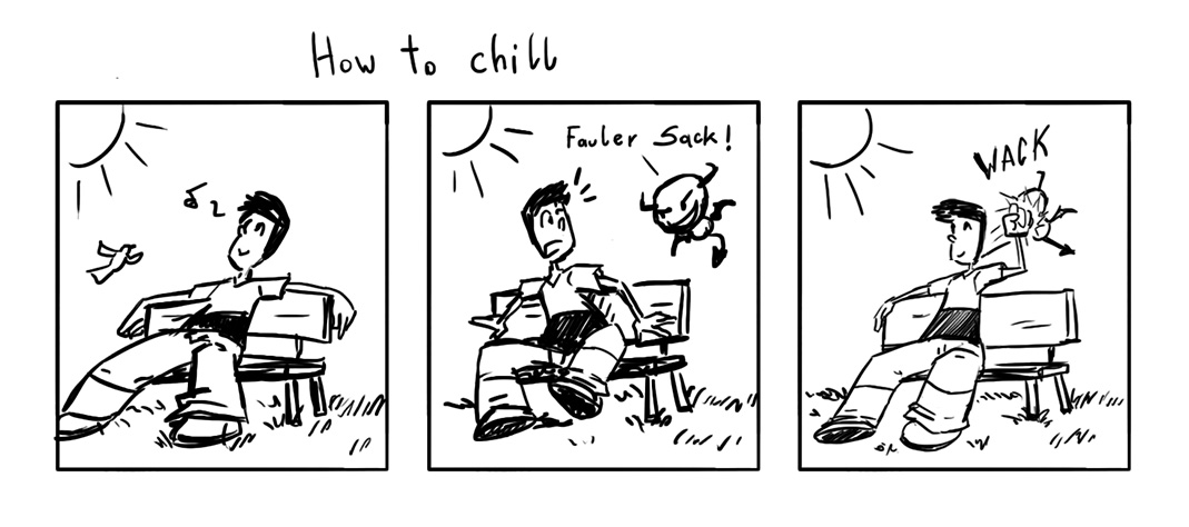 Comic Strip Der innere Sklaventreiber oder How to chill